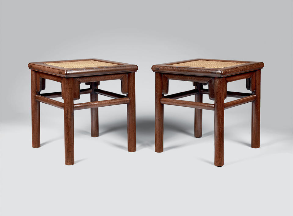 Pair of square stools (方櫈一對)
