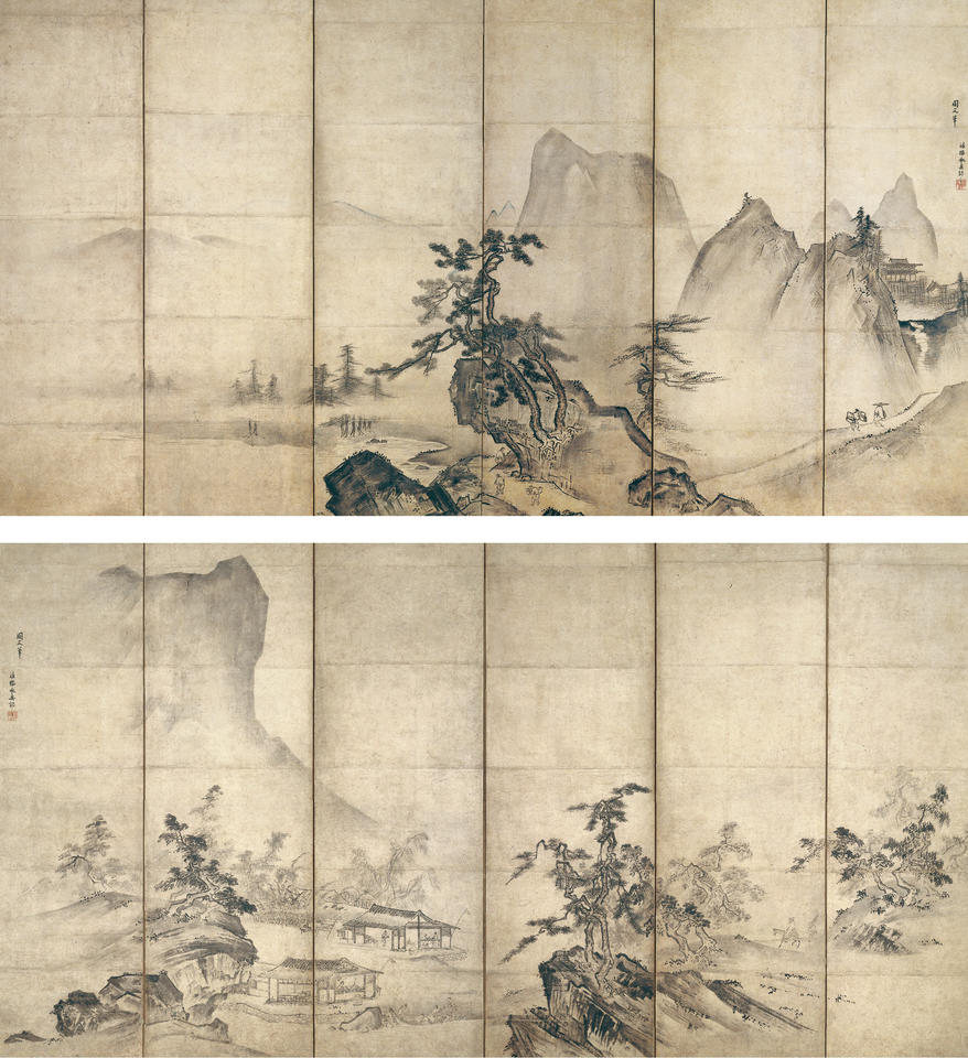 Landscape after Ka Kei (Ch. Xia Gui, 夏珪; fl. ca. 1195–1230)