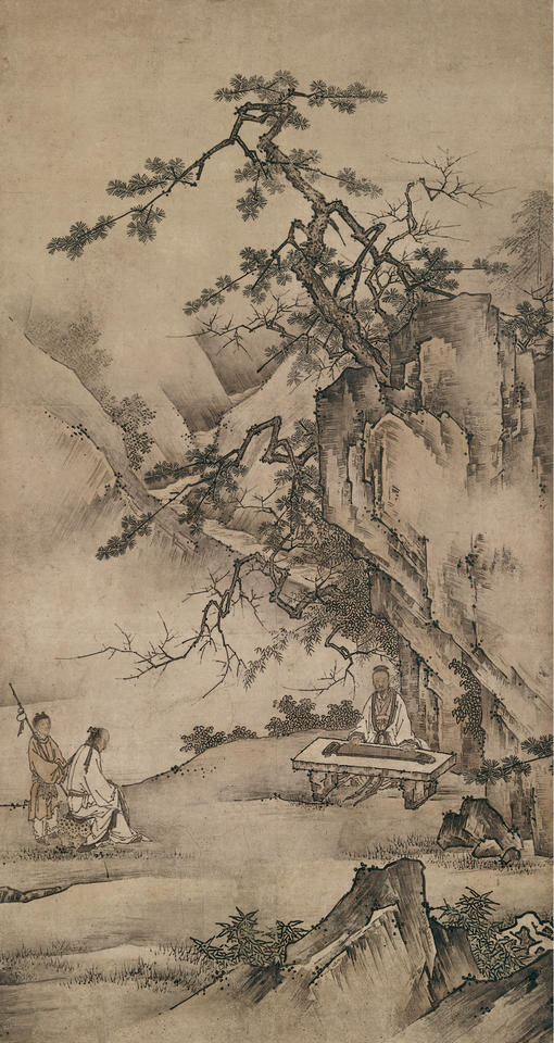 Bo Ya Plays the Qin as Zhong Ziqi Listens (伯牙弾琴)