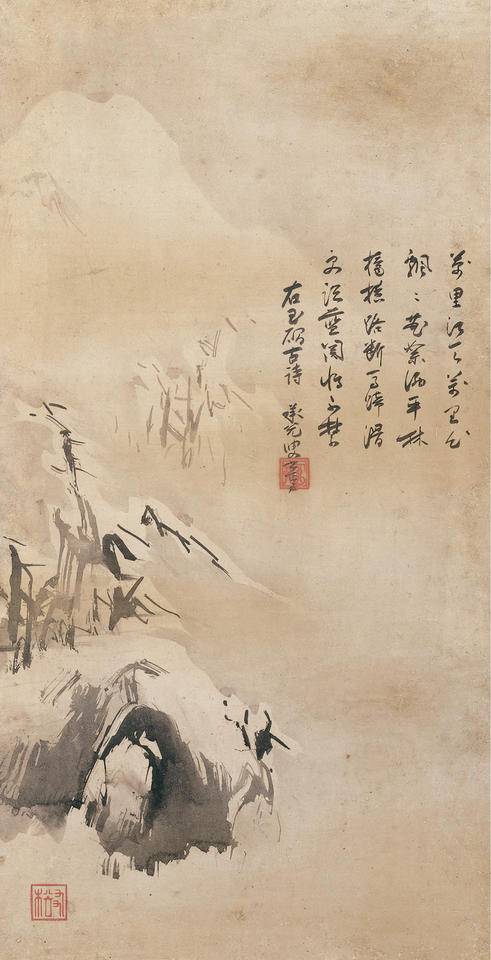 River and Sky in Evening Snow, from Eight Views of the Xiao and Xiang Rivers (瀟湘八景 江天暮雪)