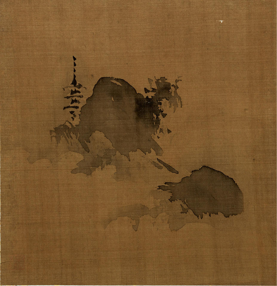Evening Bell at the Temple in Smoky Mist, from Eight Views of the Xiao and Xiang Rivers (瀟湘八景)