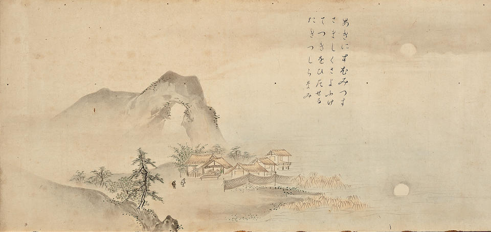 Autumn Moon over Lake Dongting, from Eight Views of the Xiao and Xiang Rivers (瀟湘八景)