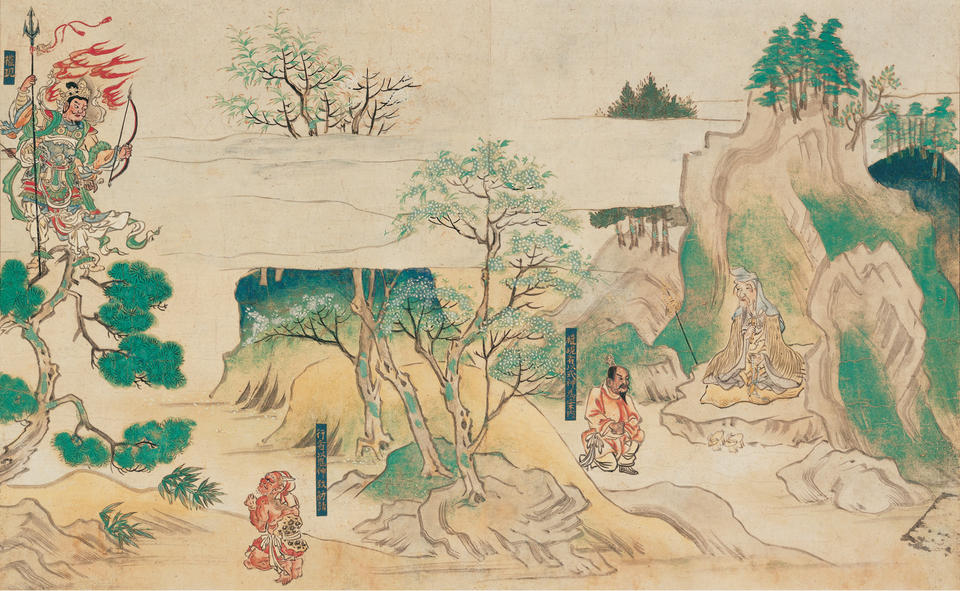 From Jin'ōji engi emaki (神於寺縁起絵巻)