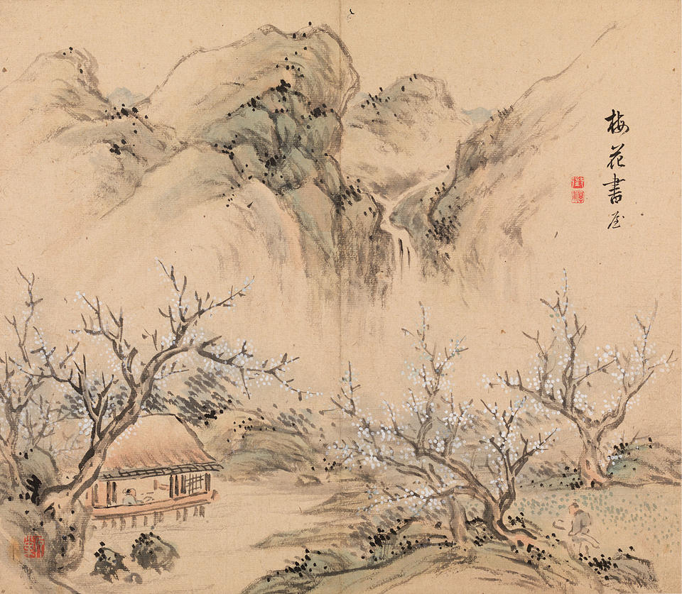 Study among Plum Flowers (梅花書屋), from Landscapes of the Four Seasons