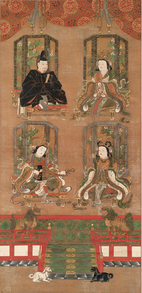 Mandala of the Four Deities of Mount Kōya (高野四所明神)