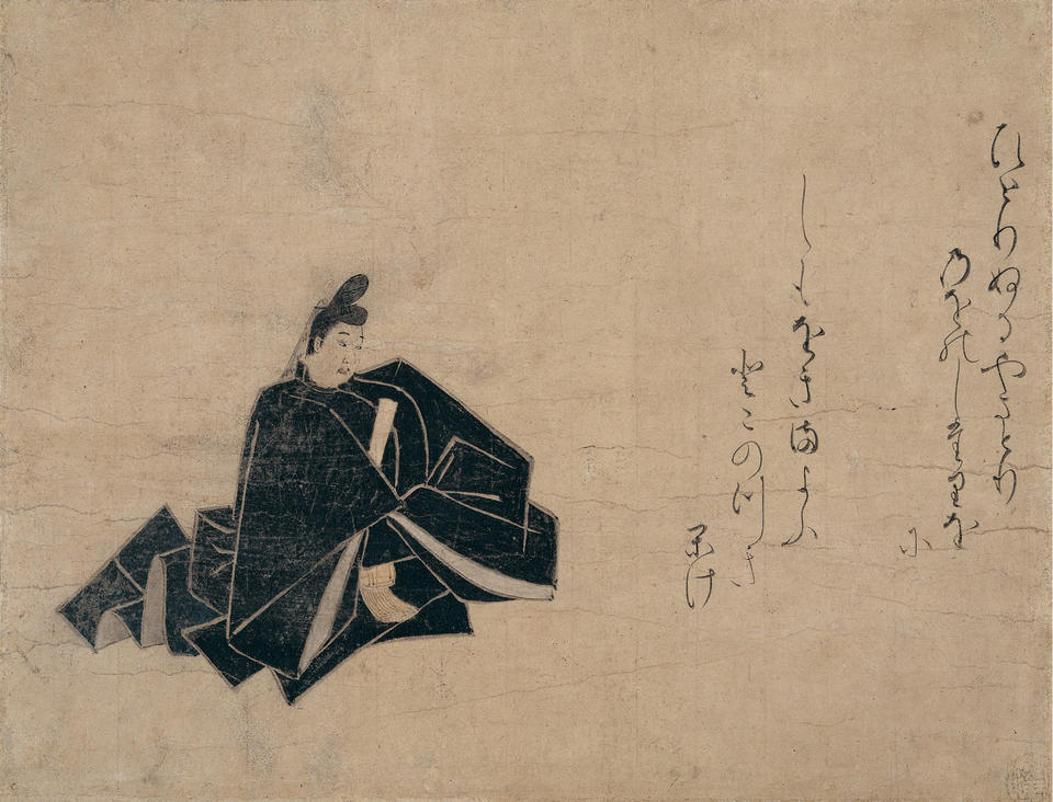 Fujiwara Teika (藤原定家), from Ikkasen isshubon (一歌仙一首本)