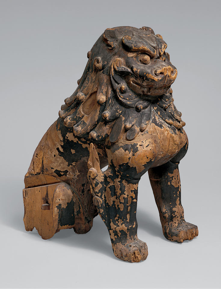 Pair of Guardian Lion Dogs (komainu, 狛犬)