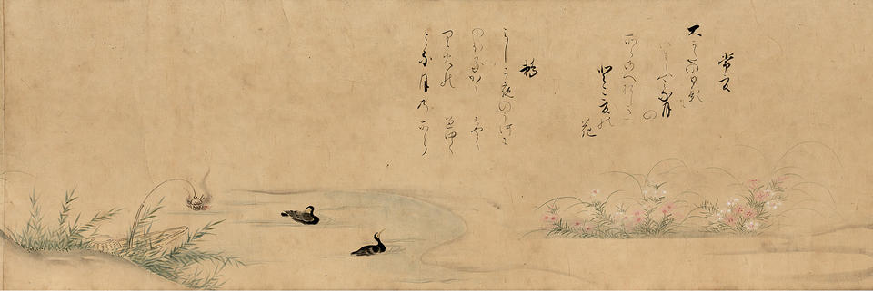 The Sixth Month of Teika's Poems on Flowers and Birds of the Twelve Months (定家詠十二ヶ月花鳥図のうち六月)