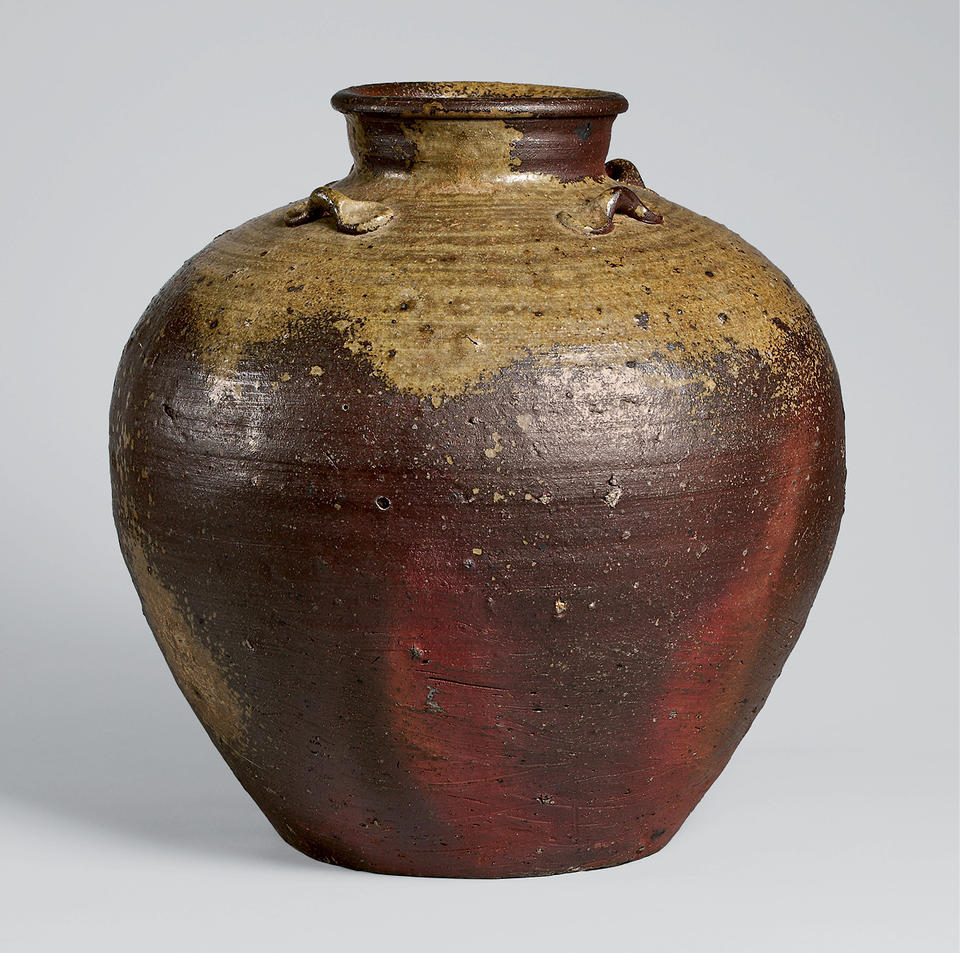 Jar with four loops on shoulder