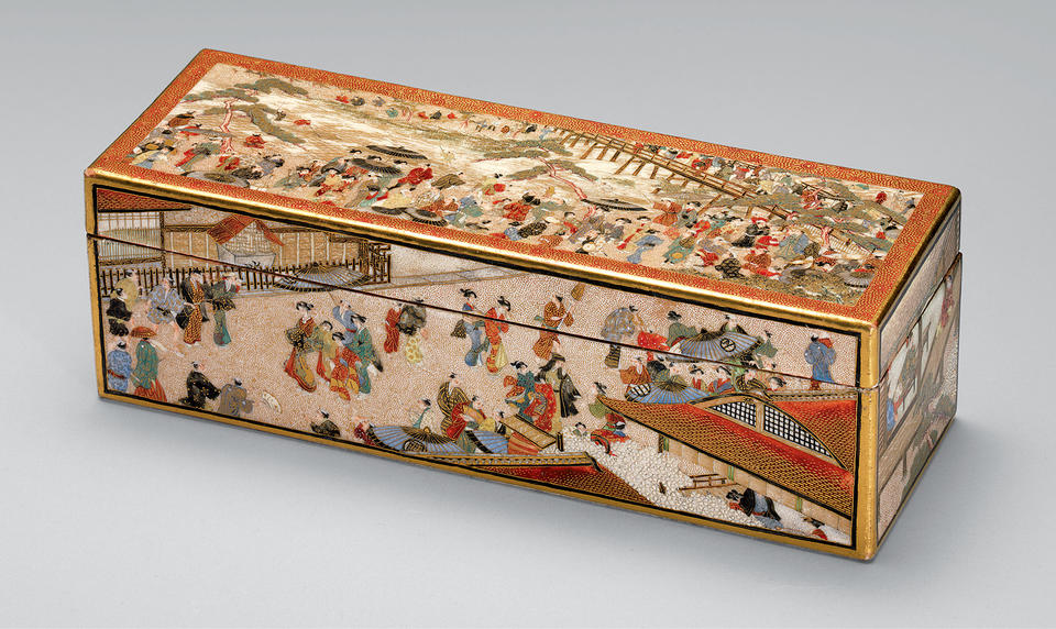 Box with scenes of Kyoto