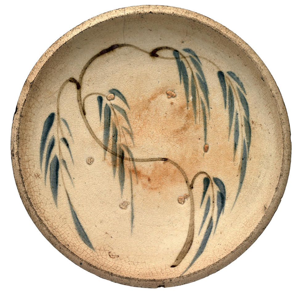 Plate with willow