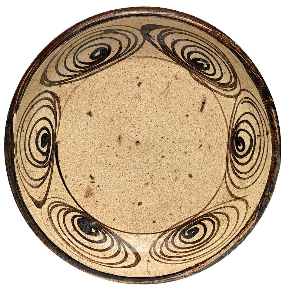 "Plate with ""horse eye"" design"