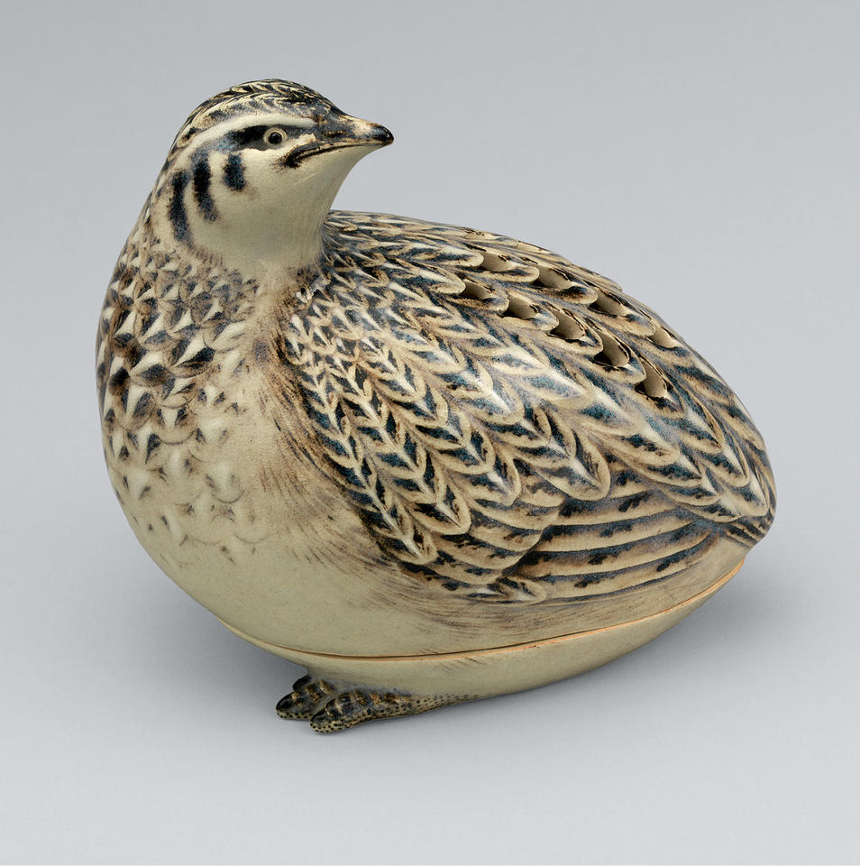 Quail-shaped incense burner