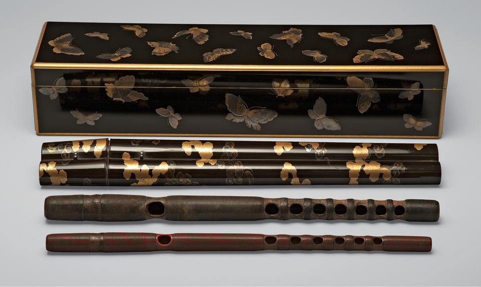 "Box and case for Noh flutes named ""Winter Wind"" (Kogarashi, 木枯し)"