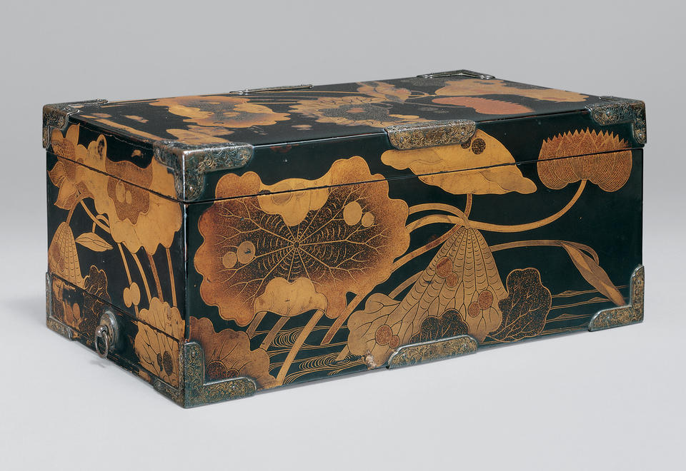 Sutra box with lotus