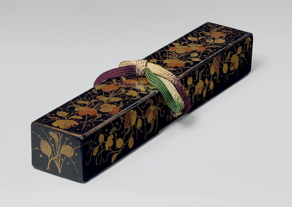 Scroll box with paulownia and grasses