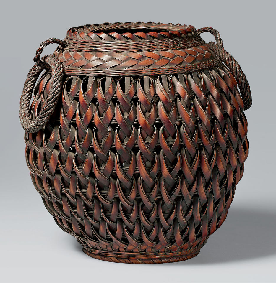 Basket with ring handles