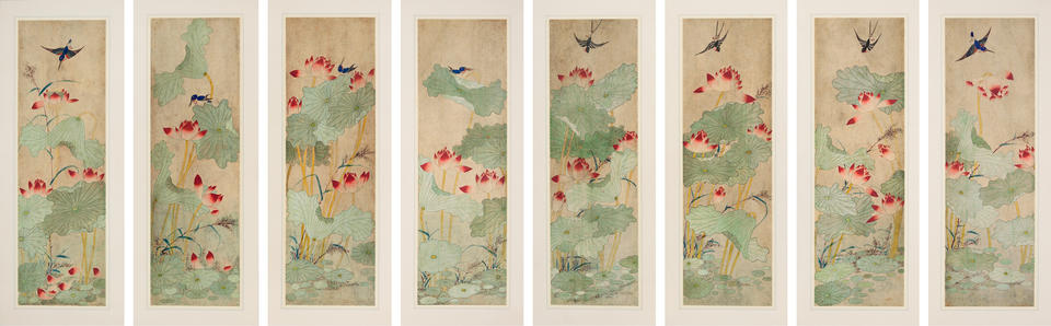 Lotus Flowers and Birds