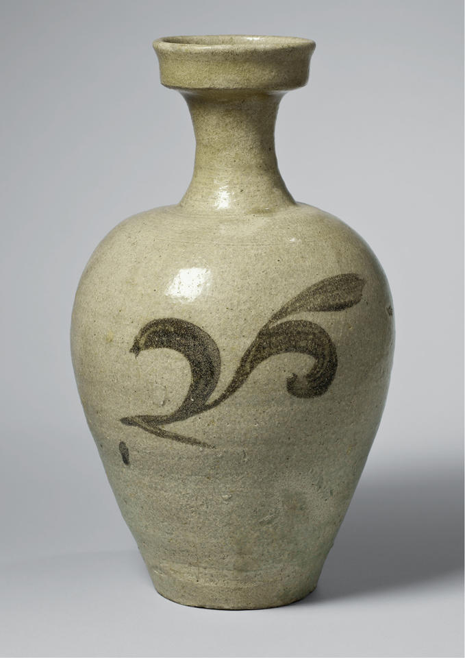 Bottle with leaves